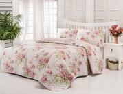 Стеганое покрывало купить Eponj Home Firuze розовое 200*220